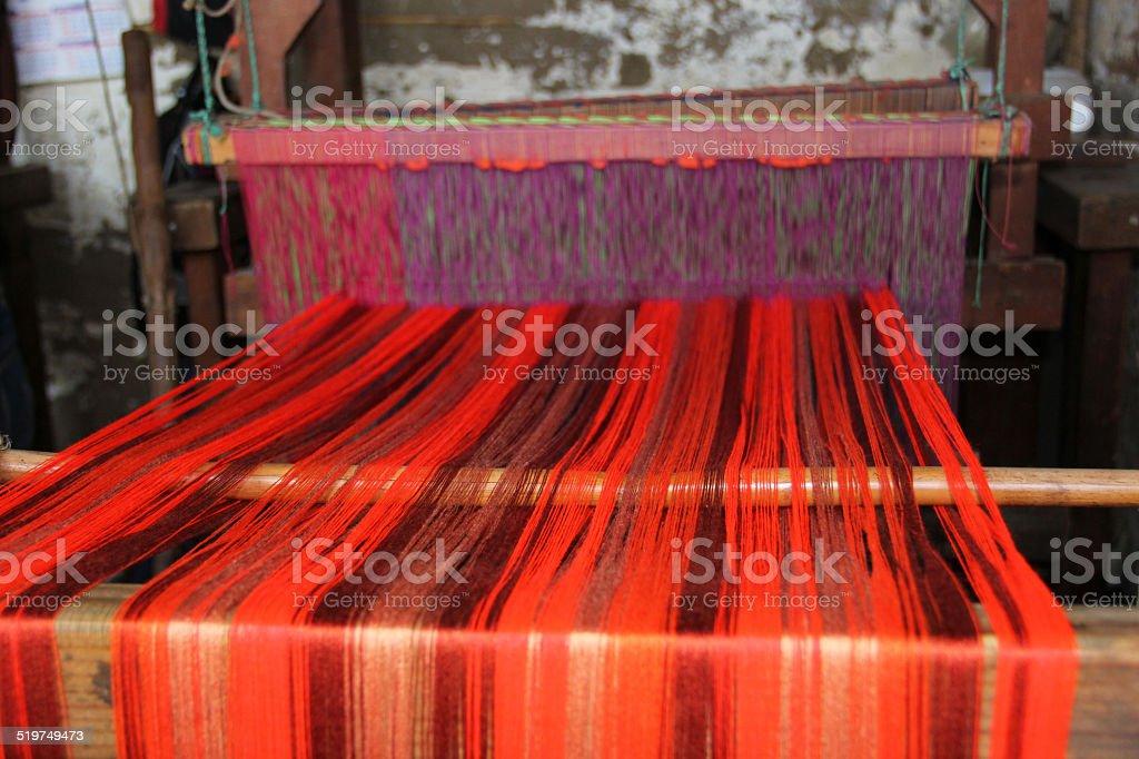 Loom Weaving stock photo