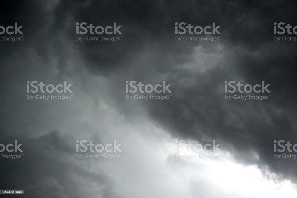 Looming dark clouds stock photo