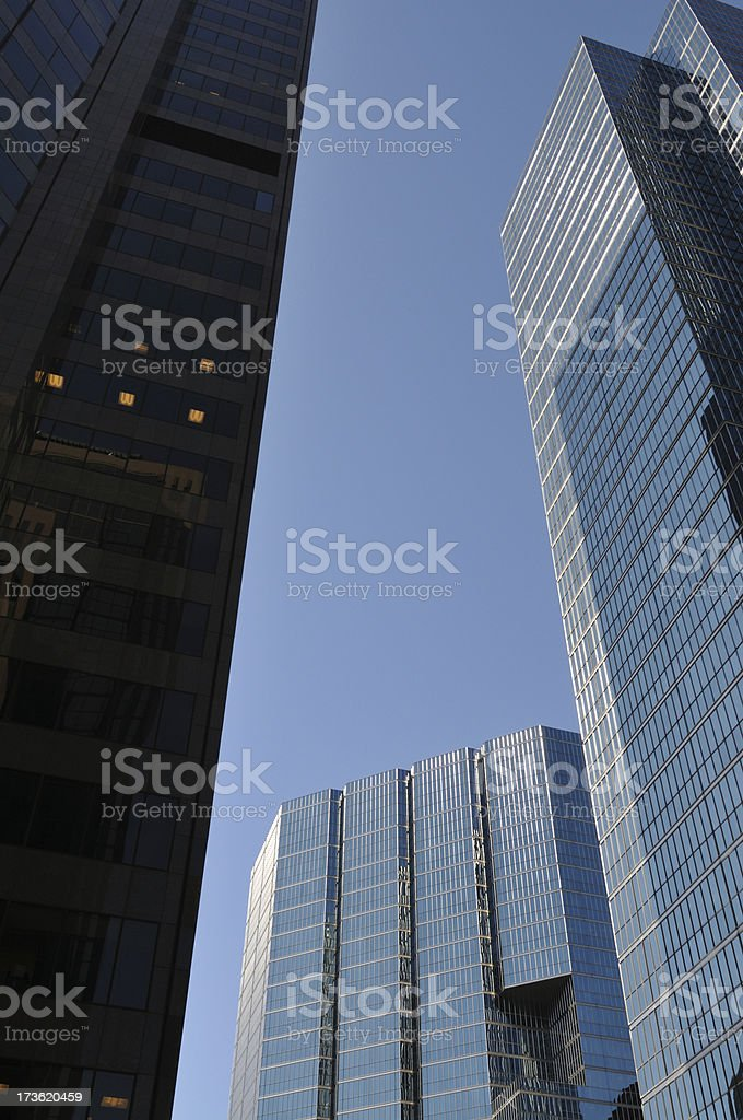 looming skyscrapers royalty-free stock photo