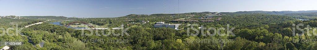 Loop 360 Bridge West of Austin - Panorama stock photo