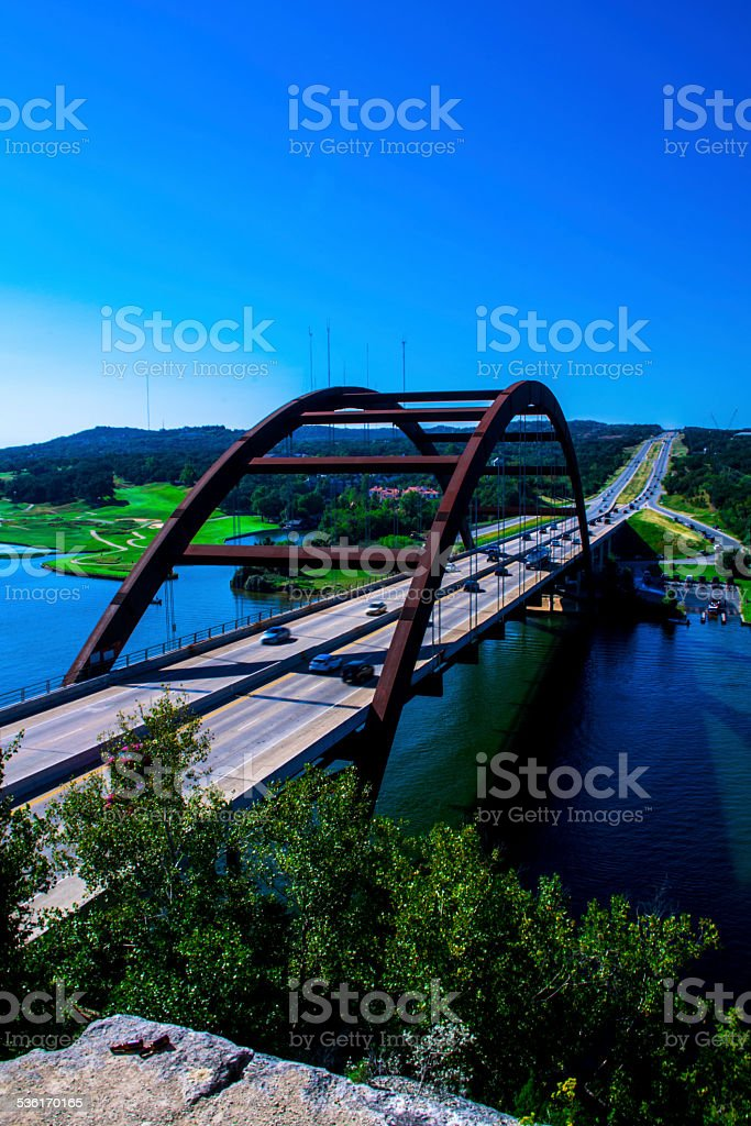 Loop 360 Pennybacker Rusty Bridge Austin Texas Iconic Landmark stock photo