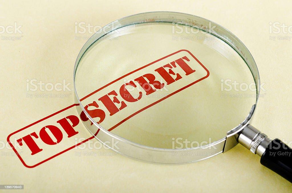 loop is on 'top secret' royalty-free stock photo