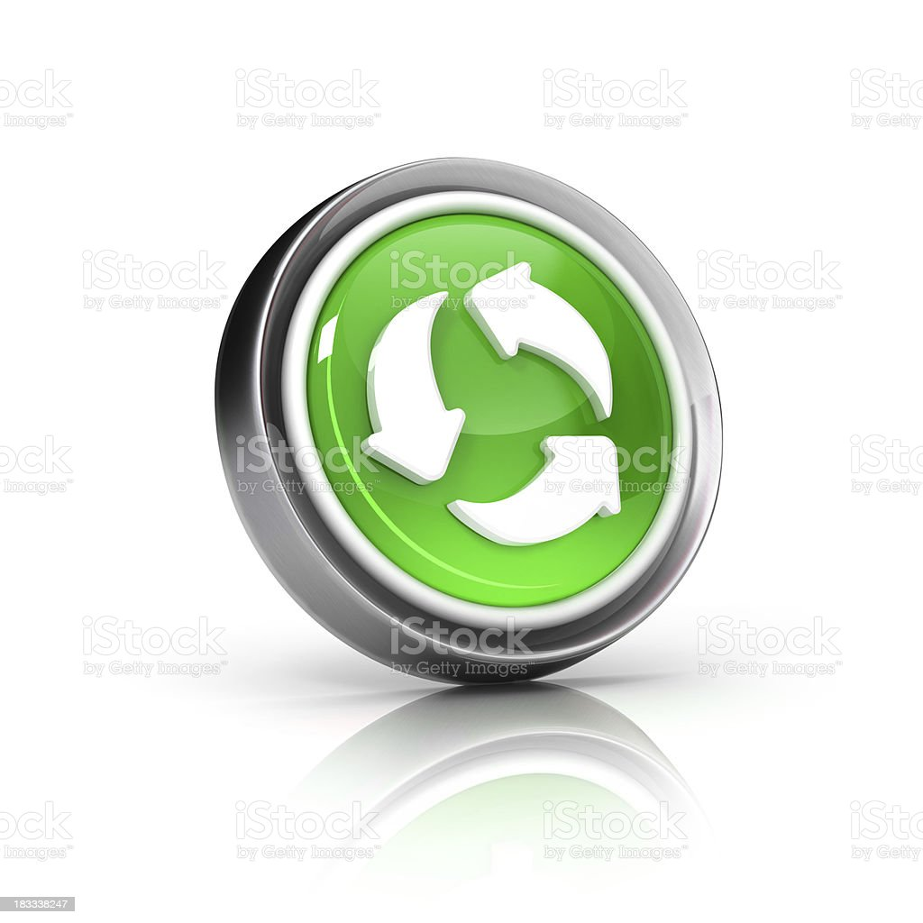 Loop or Recycle icon stock photo
