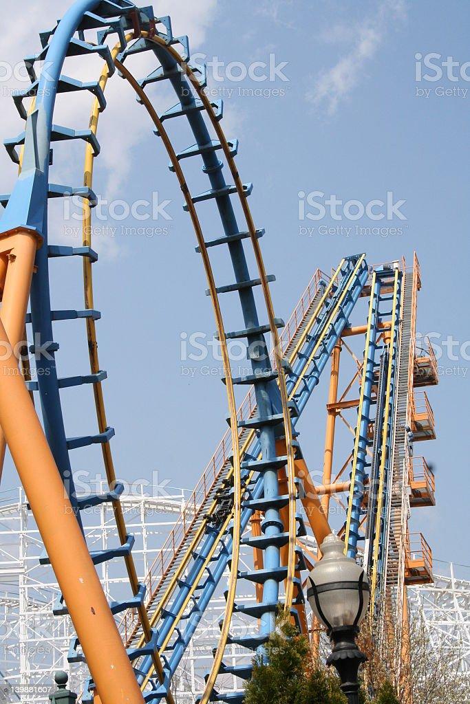 Loopy Coaster royalty-free stock photo
