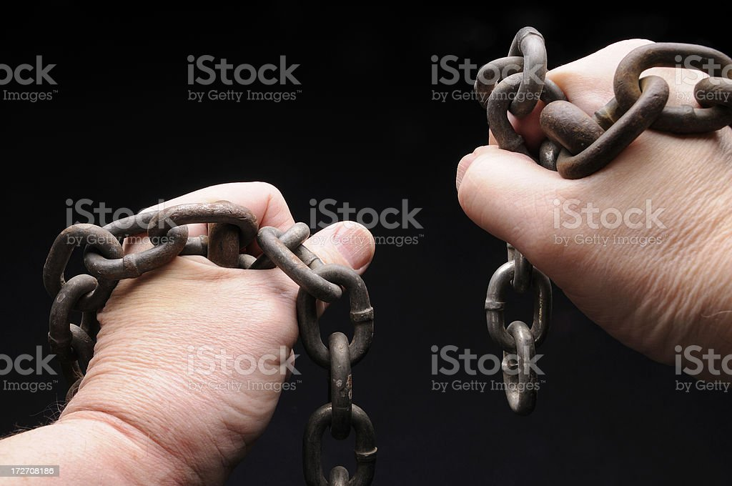 Loose Chains stock photo