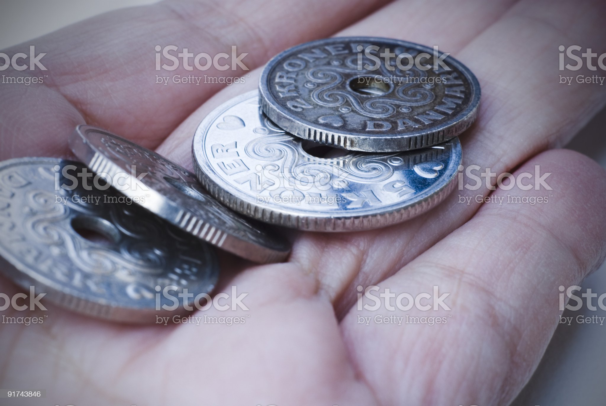 Loose change royalty-free stock photo