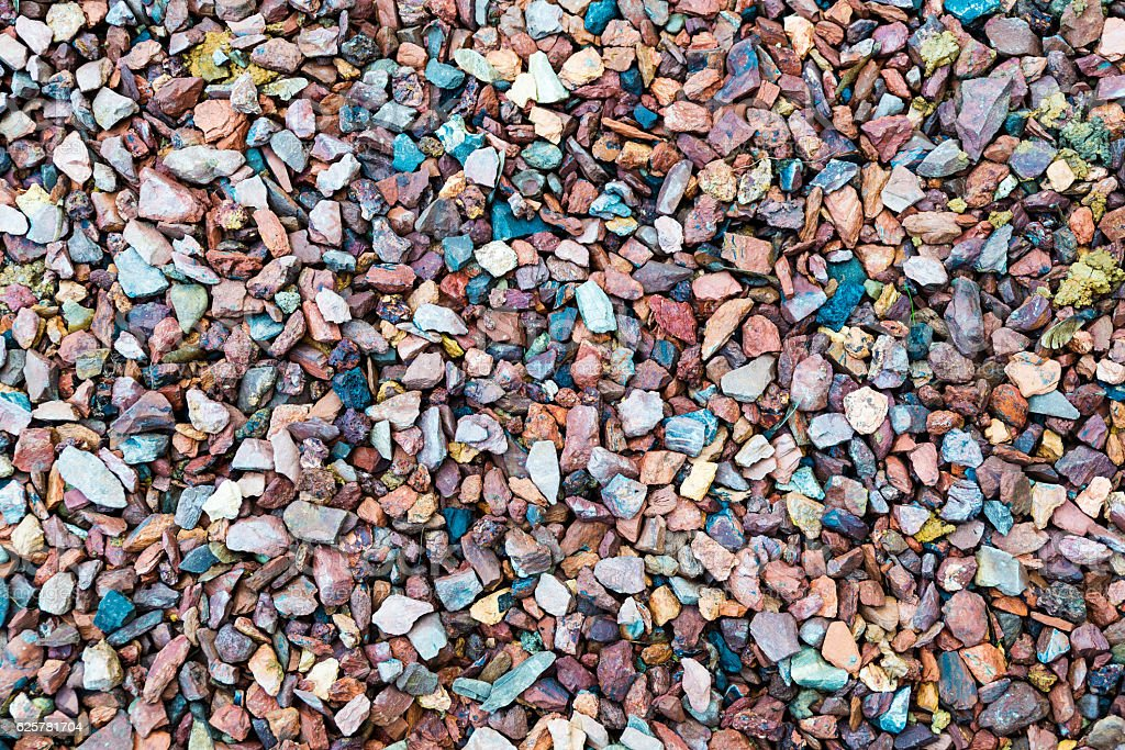 Loose colourful pebble stones stock photo