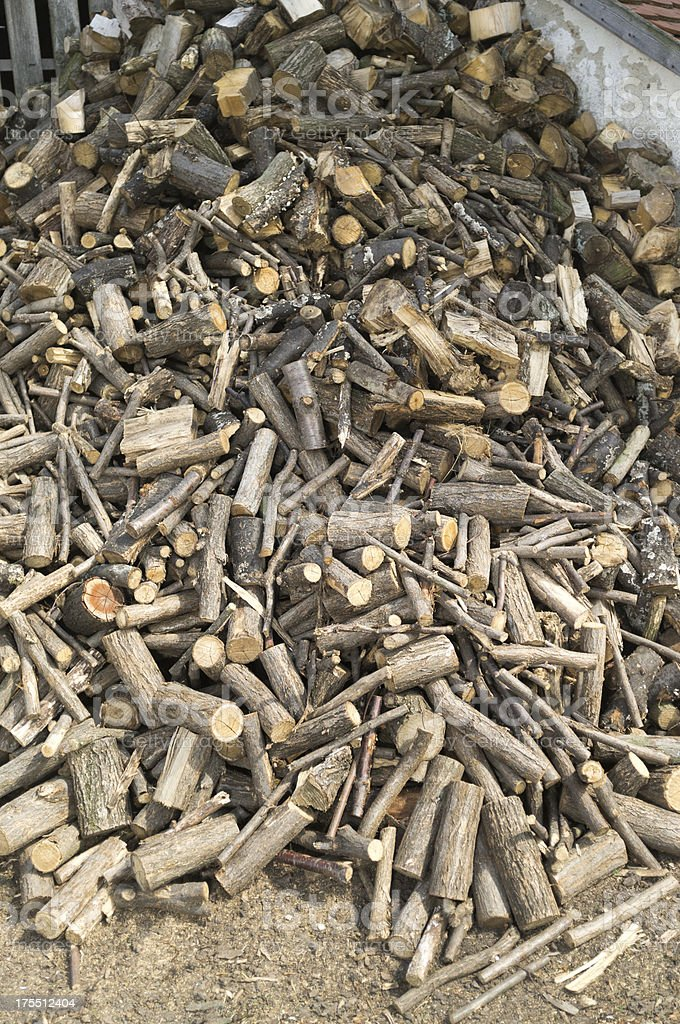 Loose Fire Wood Pile royalty-free stock photo