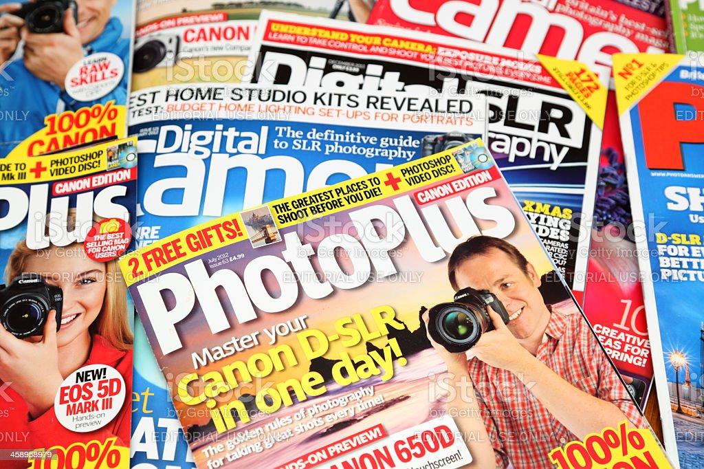 loose pile of photo magazines royalty-free stock photo