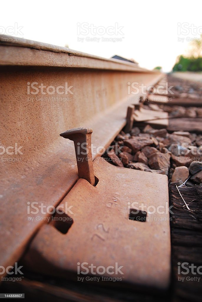Loose Railroad spike royalty-free stock photo