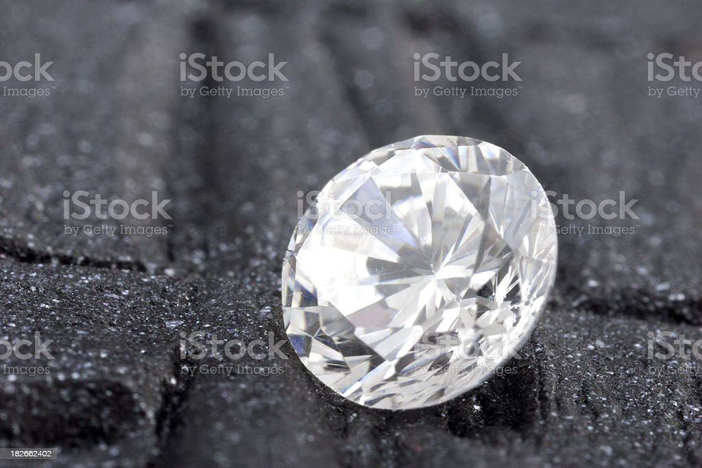 Loose Round diamond royalty-free stock photo