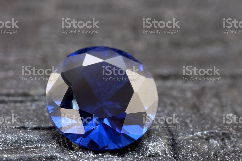 Loose Round Sapphire royalty-free stock photo