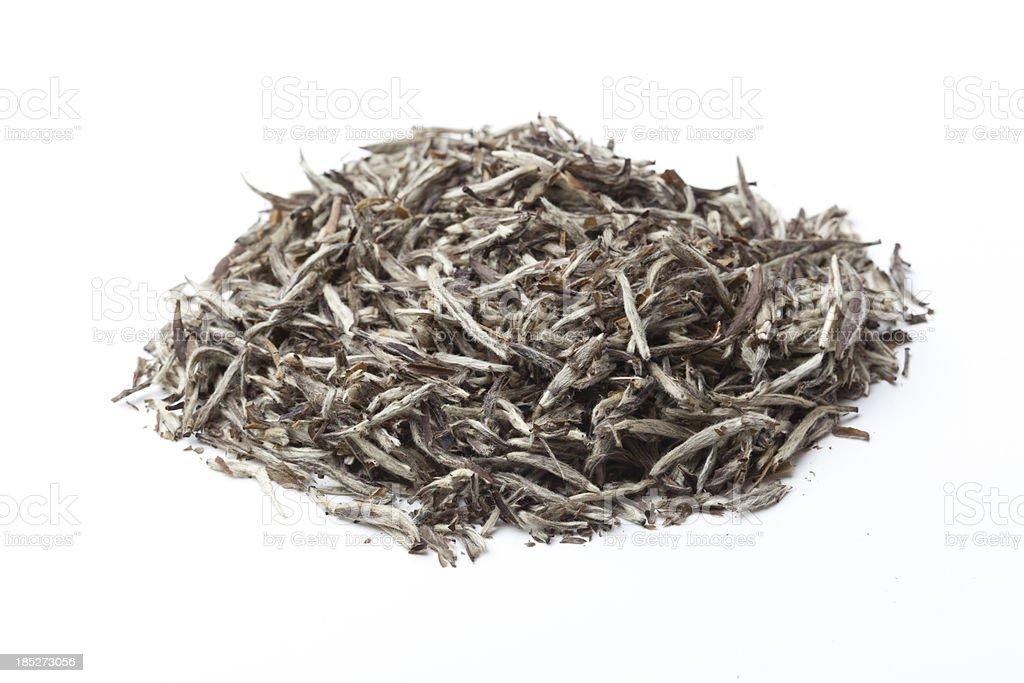 Loose Silver White Tea stock photo