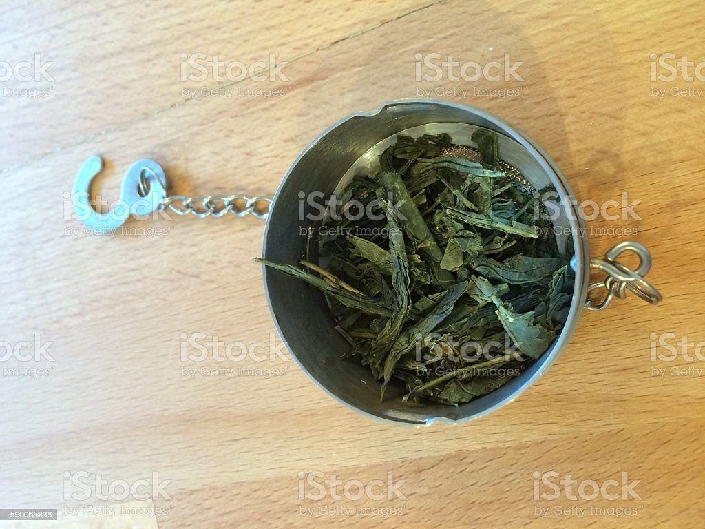 Loose Tea and Infuser stock photo