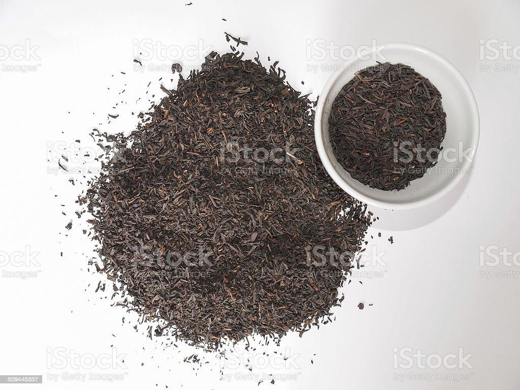 Loose tea bowl stock photo