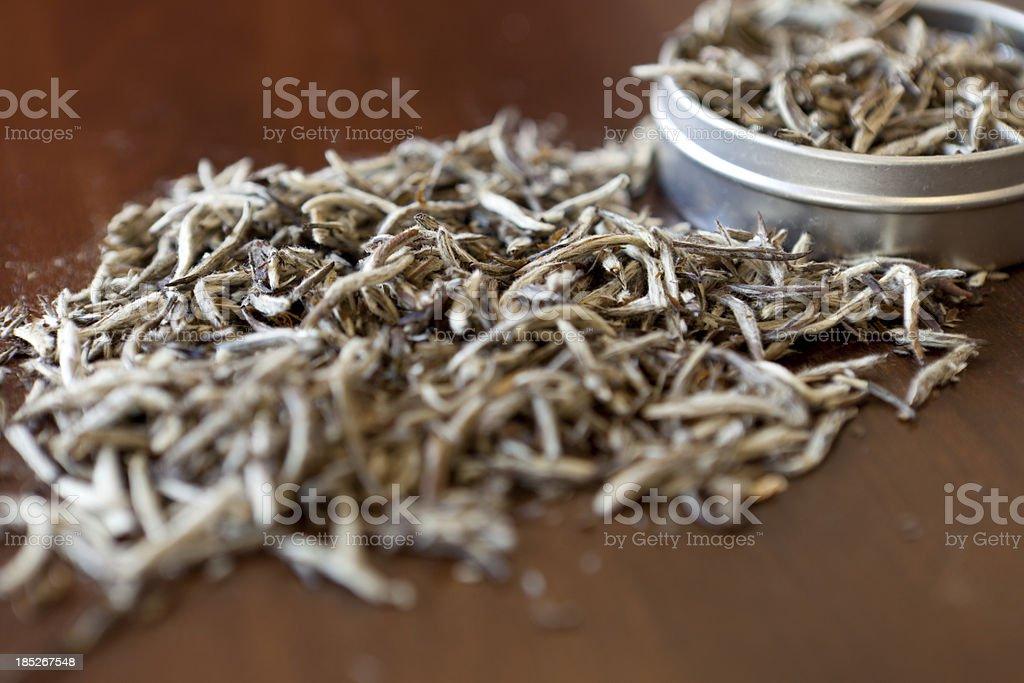 Loose White Tea stock photo