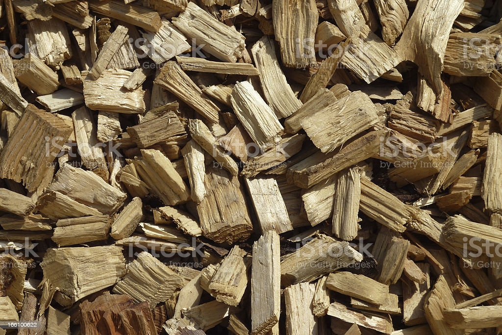 Loose Wood Chips royalty-free stock photo
