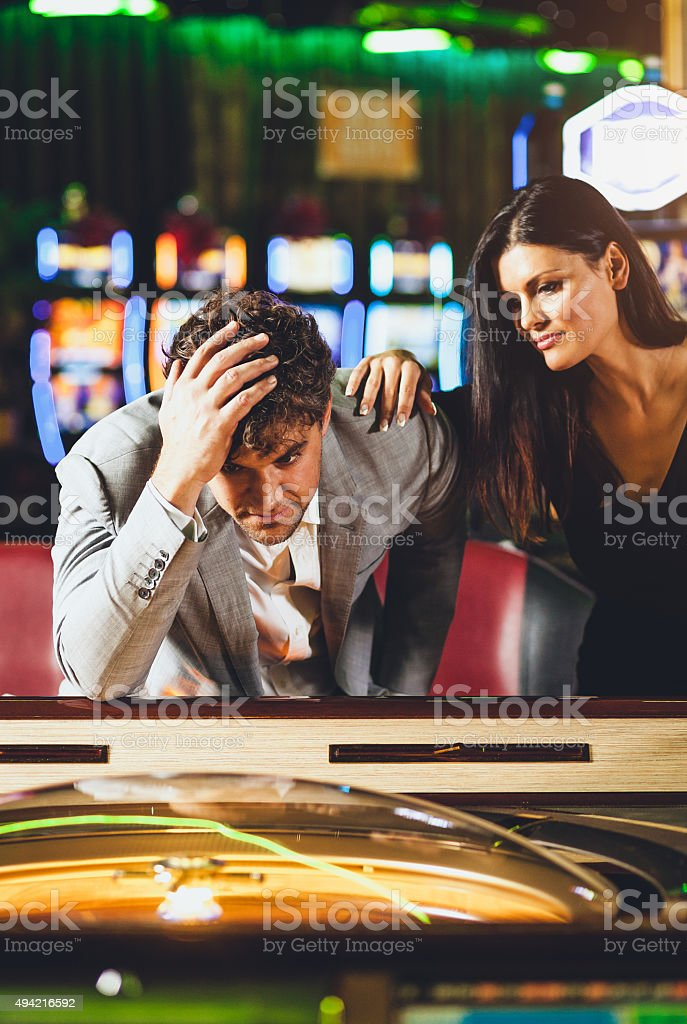 Loosing at the Casino stock photo