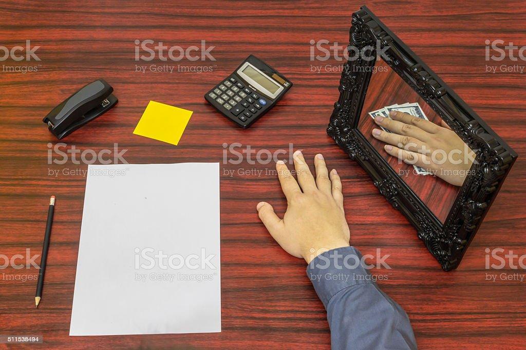 Loosing money concept stock photo