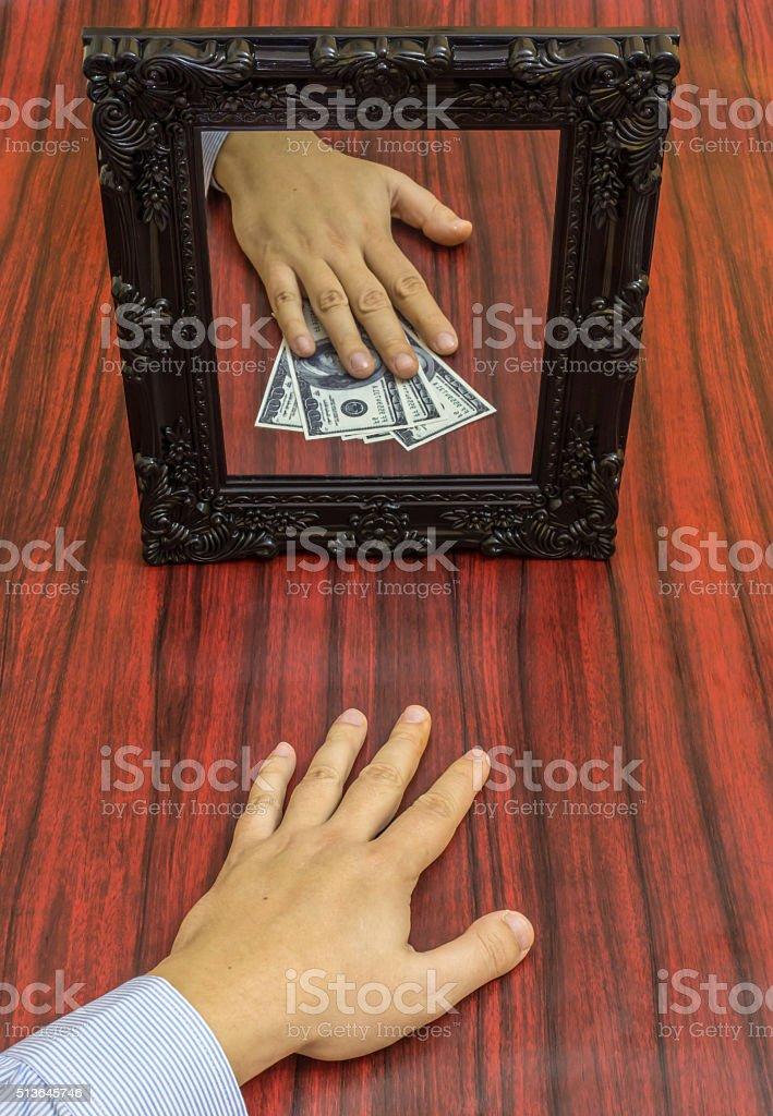 Loosing money stock photo