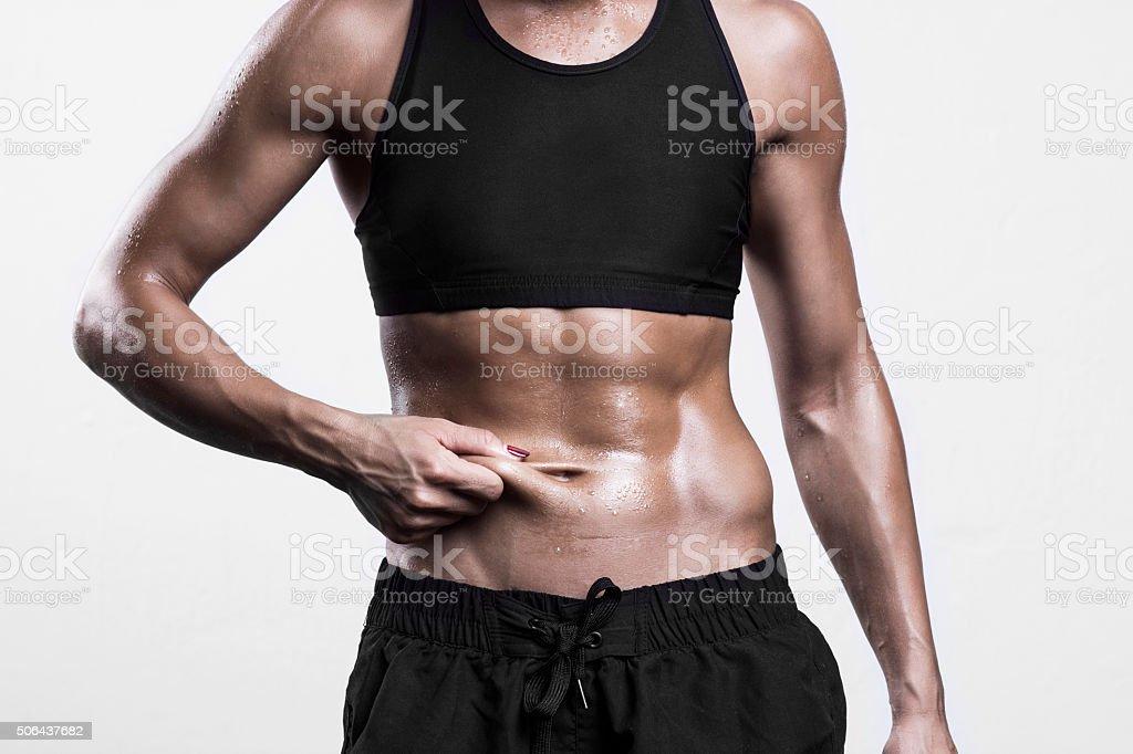 Loosing weight stock photo