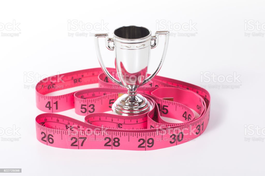 Loosing weight success concept stock photo