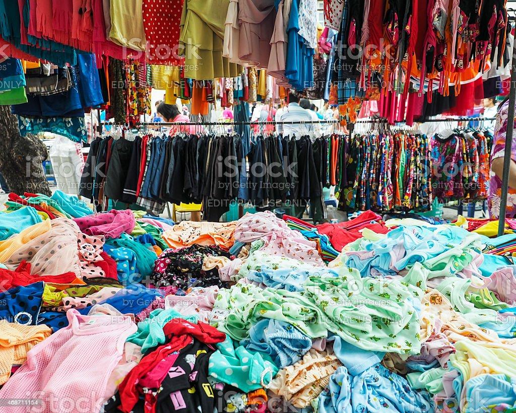 Lopburi market in Thailand stock photo