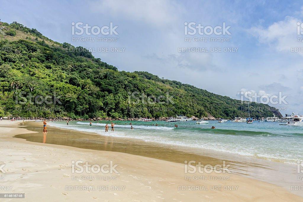Lopes Mendes beach in Ilha Grande stock photo