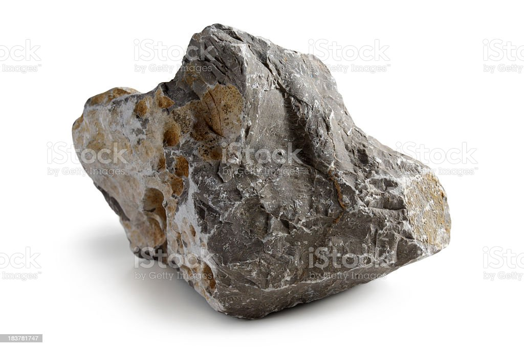Lopsided grey stone with rough edges royalty-free stock photo