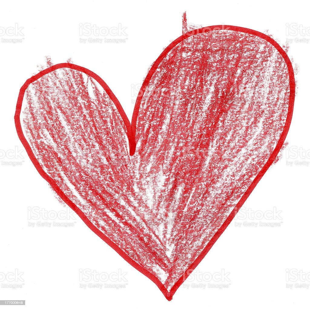 Lopsided Heart stock photo