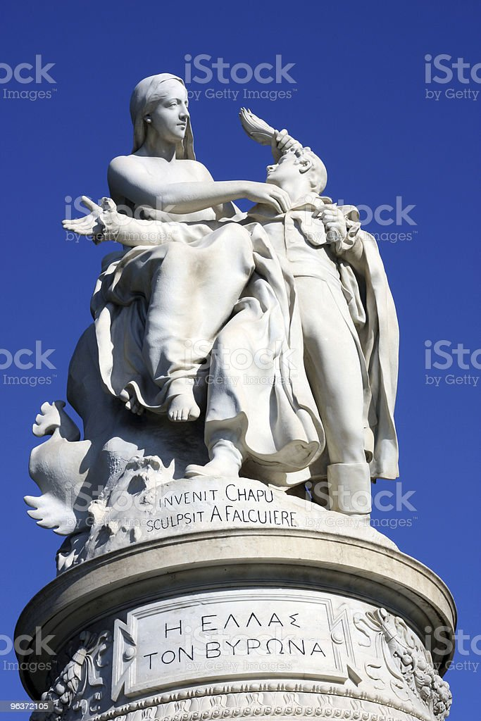 Lord Byron Monument stock photo