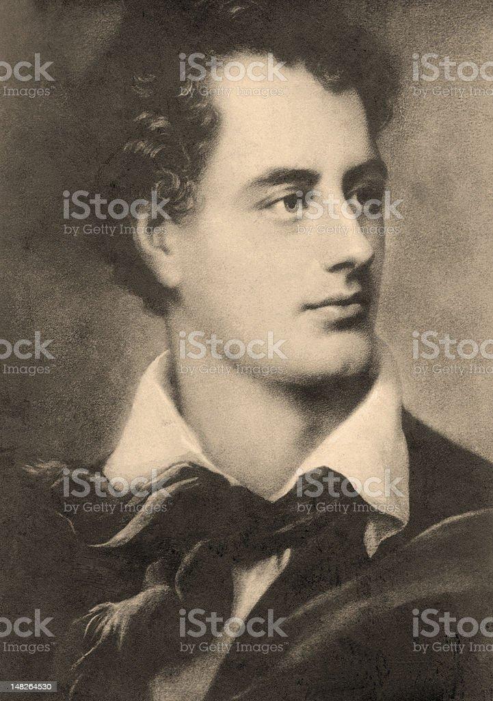 Lord Byron stock photo
