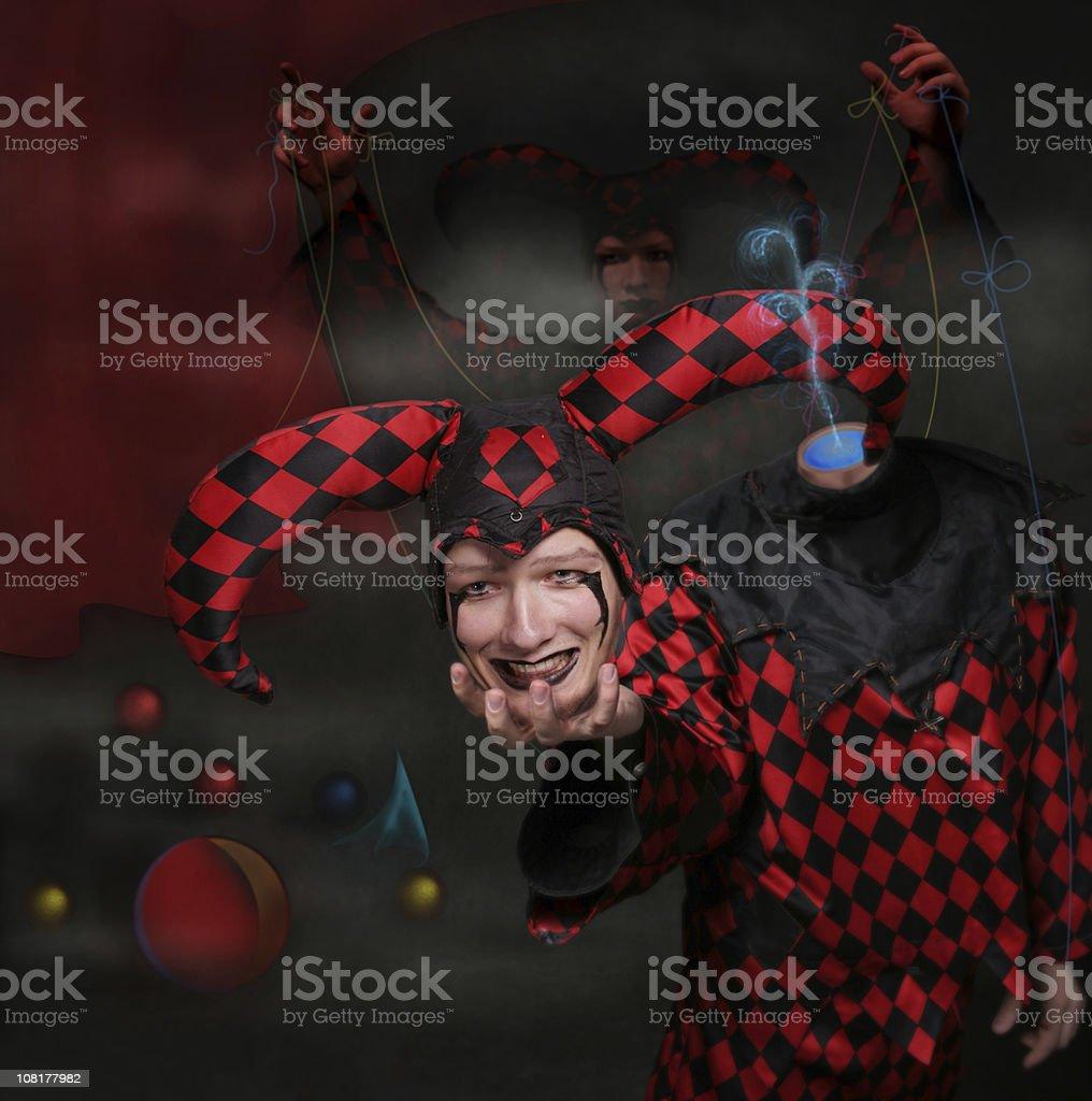 Lord clown: Illusion royalty-free stock photo
