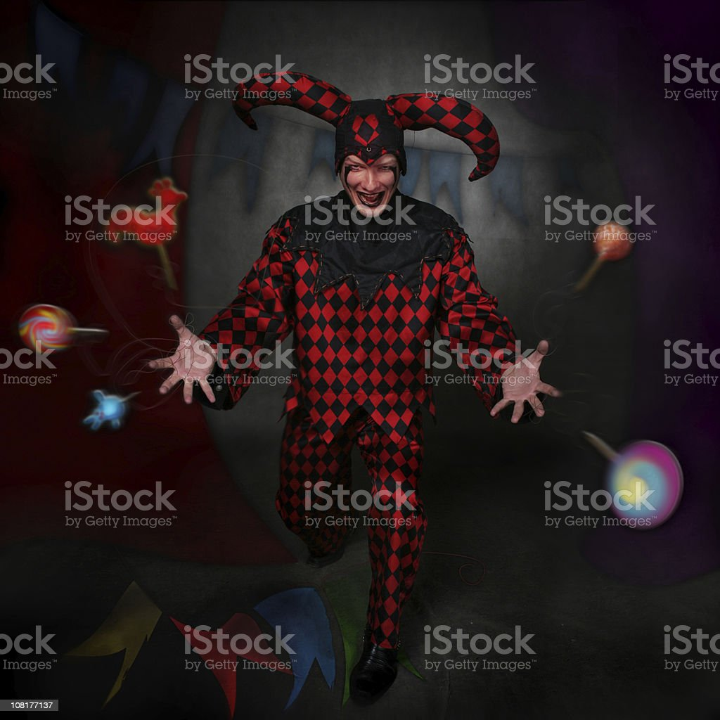 lord clown: sweetnesses stock photo