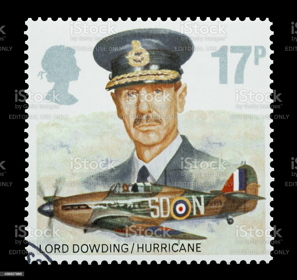 Lord Dowding and RAF Hurricane stock photo