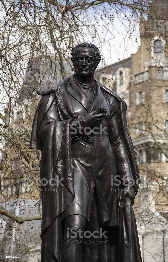 Lord George Bentinck statue royalty-free stock photo