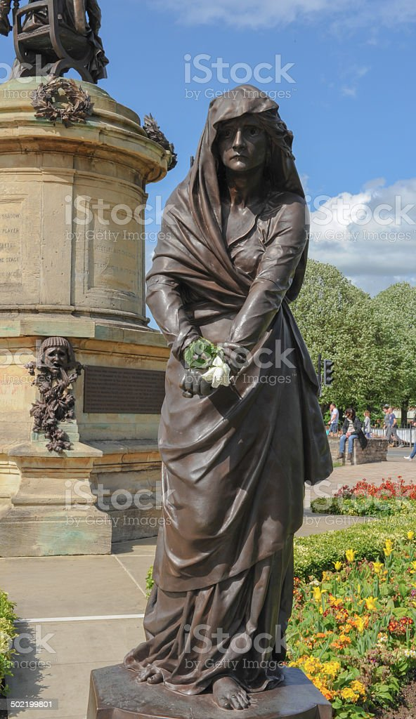 Lord Gower's Memorial to William Shakespeare in Stratford -upon- Avon stock photo