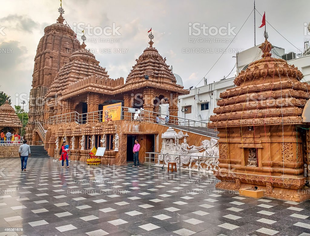 Lord Jagannath temple, Hyderabad, India stock photo