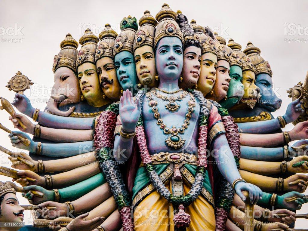 Lord Krishna in Sri Srinivasa Perumal Temple stock photo