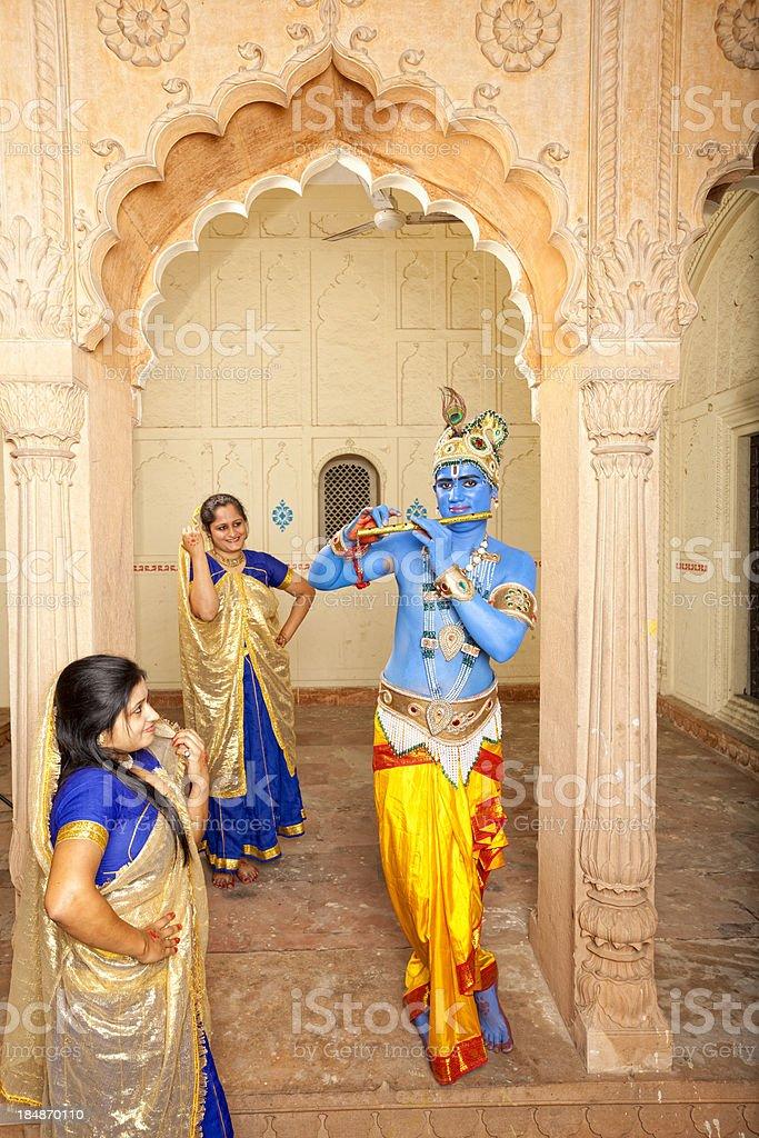 Lord Krishna stock photo