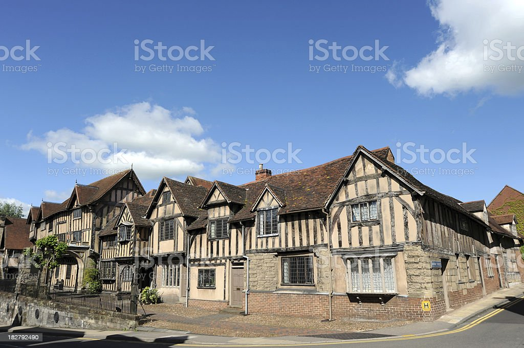 Lord Leycester hospital. Warwick. stock photo
