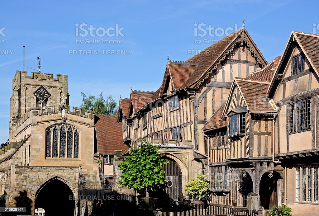 Lord Leycester Hospital, Warwick. stock photo