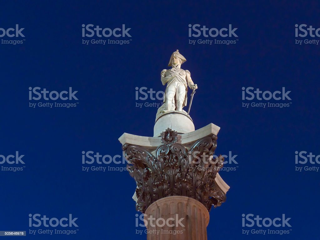 Lord Nelson statue stock photo