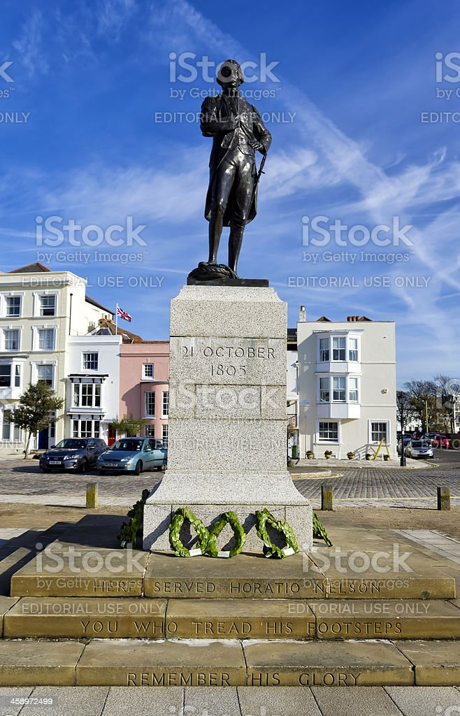 Lord Nelson's memorial in Old Portsmouth royalty-free stock photo