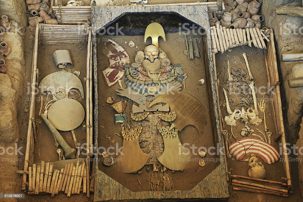 Lord of Sipan Tomb stock photo