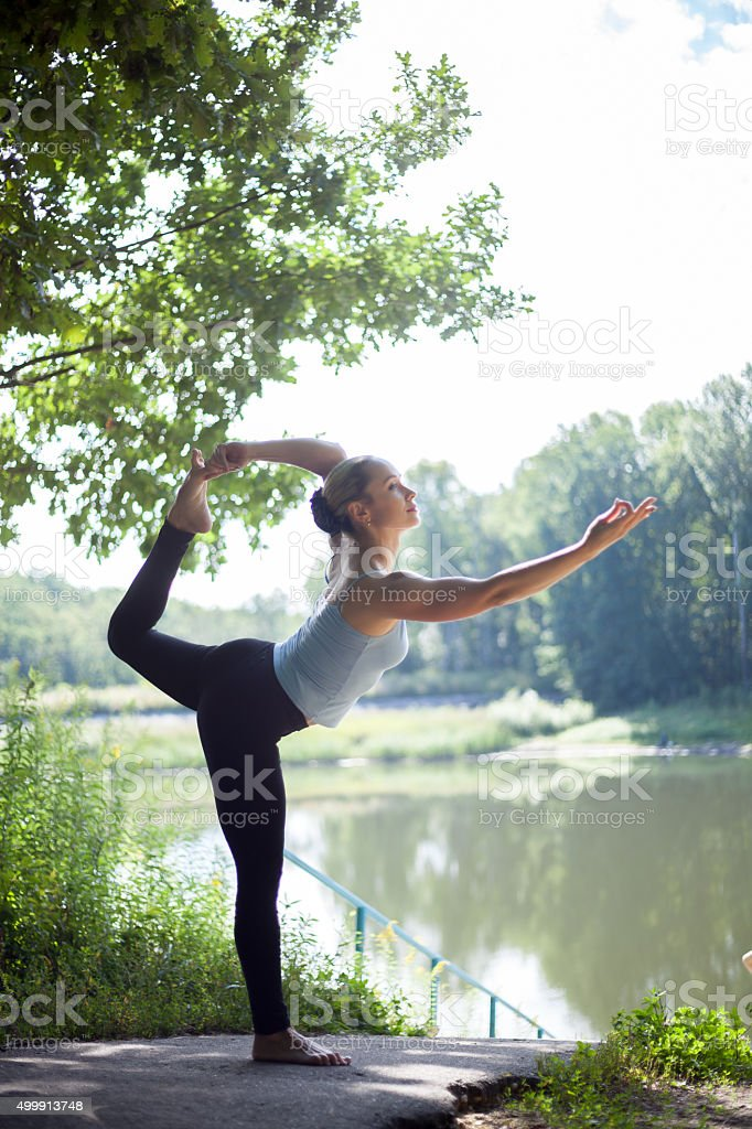 Lord of the dance pose stock photo