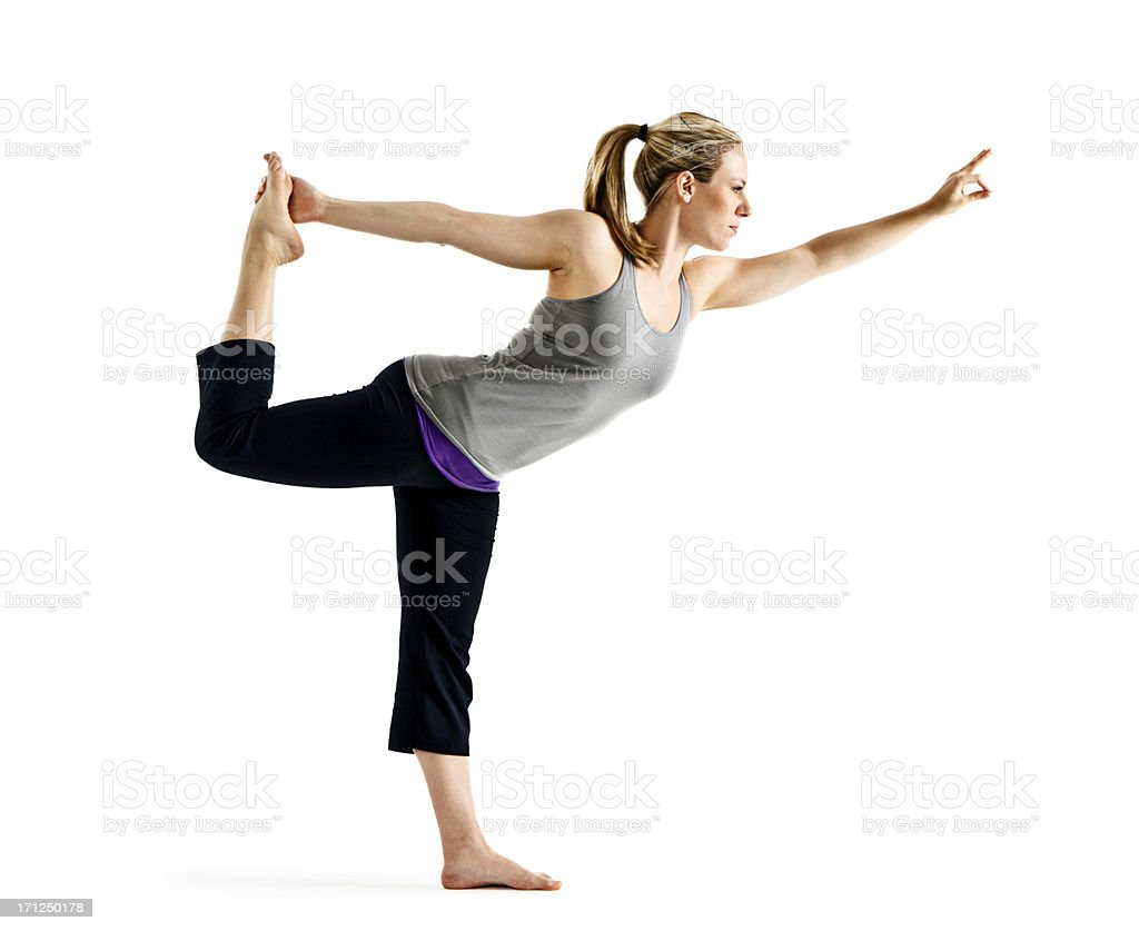 Lord of the Dance Yoga Pose royalty-free stock photo