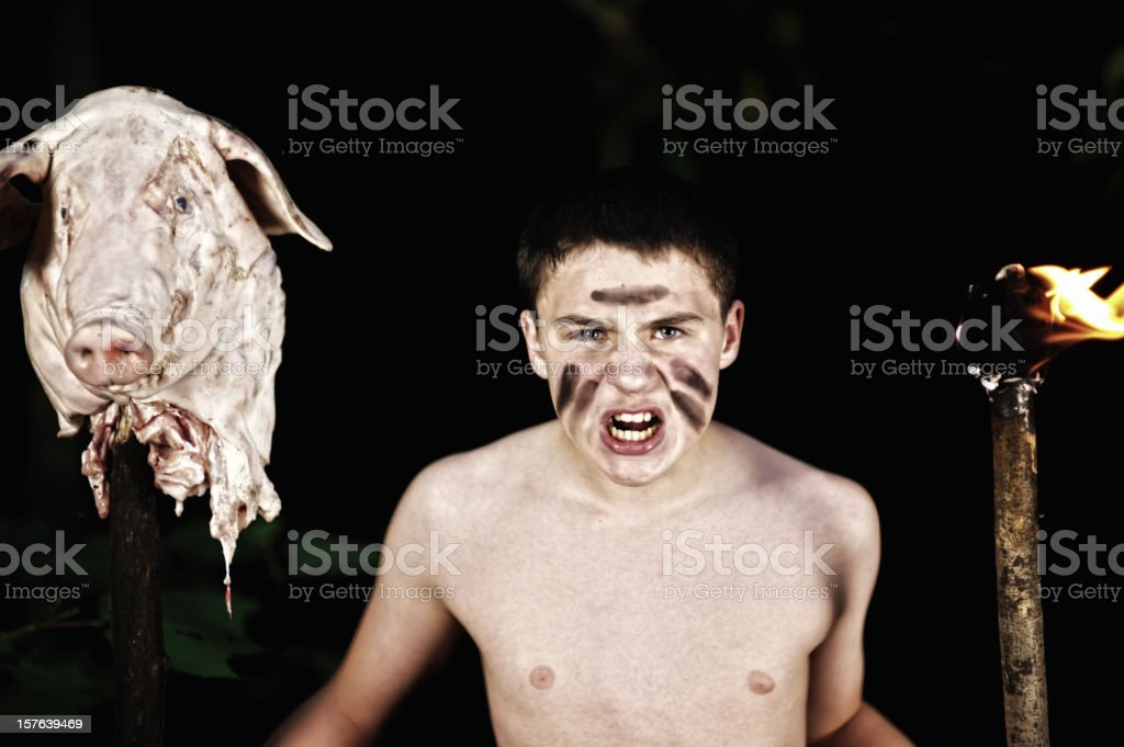 Lord of the Flies royalty-free stock photo