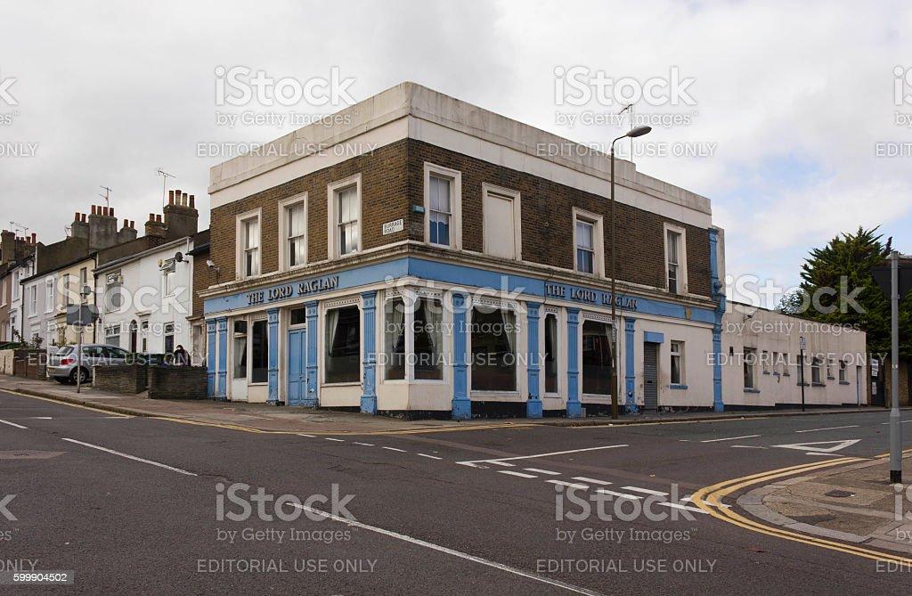 Lord Raglan old pub in London suburbs stock photo
