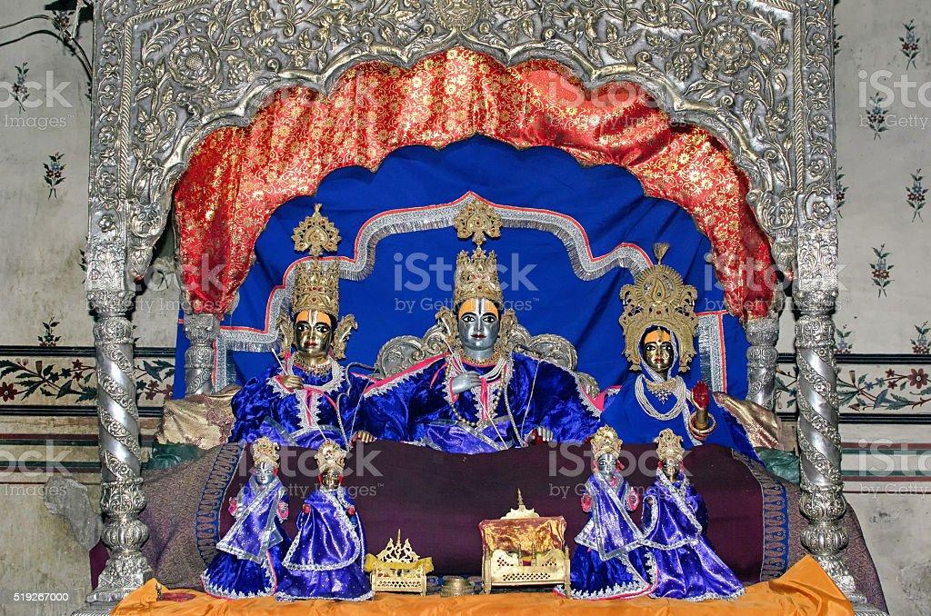 Lord Ram and Sita stock photo
